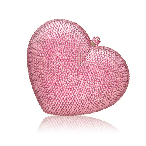 Rose Pink Sweetheart Crystal Clutch