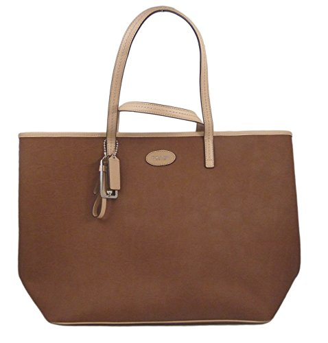 Coach Metro Embossed Leather Tote Saddle F31944SVSD