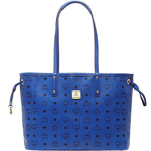 2014 AW Authentic MCM SHOPPER PROJECT Medium Size Reversible Shopper Bag Blue MWP4AVI38LM