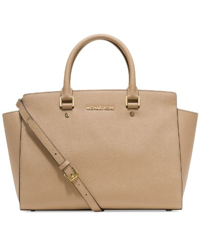 Michael Kors Large Selma Satchel (DARK KHAKI)