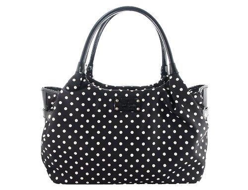 Kate Spade Stevie Black & Cream Spot Nylon Shoulder Handbag