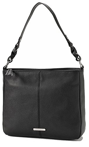 Stone & Co. Genuine Leather Hobo Style Handbag (Black)