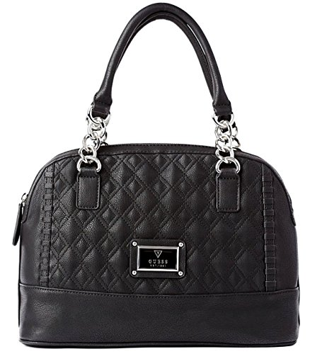 Guess Alivia Quilted Dome Tote Satche Bag Handbag Purse, Black