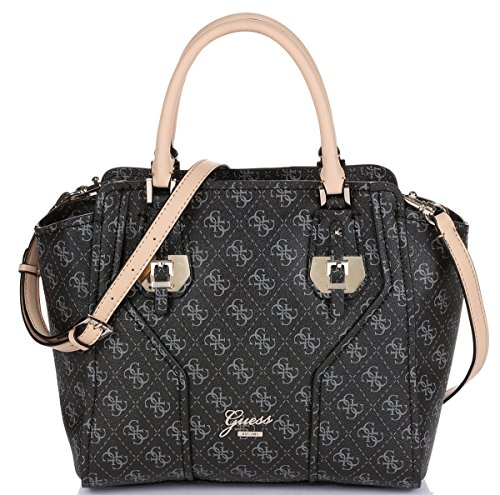 Guess Confidential Logo Avery Satchel Coal