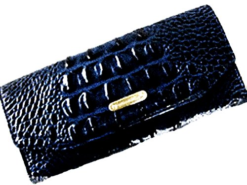 Brahmin Soft Andie Checkbook and Wallet – Navy