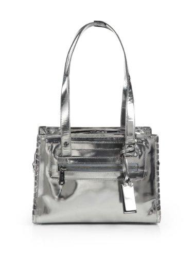 Gryson Theodora Studded Metallic Leather Shoulder Bag