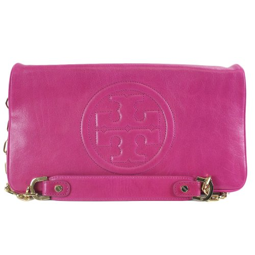 Tory Burch Bombe Reva Clutch Bag Magenta