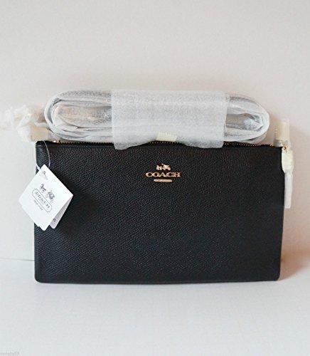 Coach Embossed Textured Leather Kylie Crossbody Swingpack 52385 Li/Black