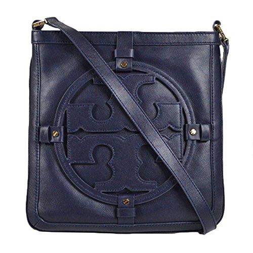 Tory Burch Logo Leather Holly Book bag Crossbody Bag Tory Navy