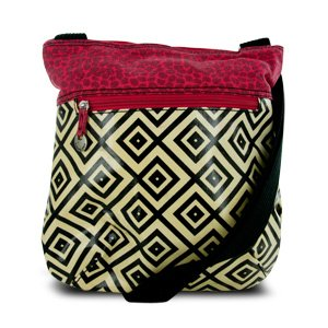Travelon Printed Crossbody Bag with Adjustable Shoulder Strap – Geometric Pattern