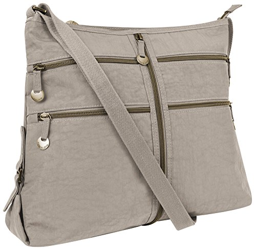Travelon RFID Expanding Convertible Crossbody Bag – Sandstone