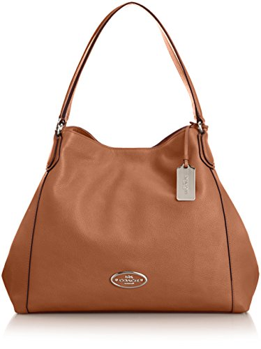 Coach Edie Shoulder Bag Li/saddle Leather