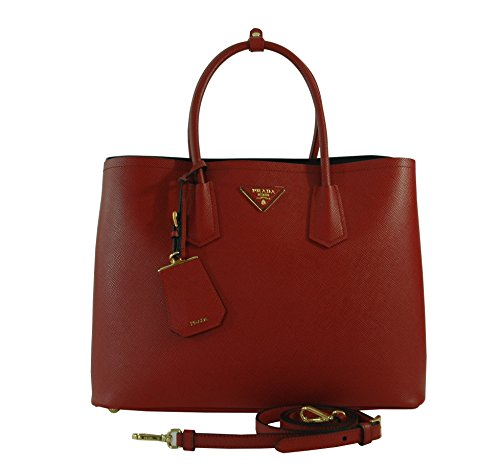 Prada Double Handle Tote 2756T Red/Fuoco