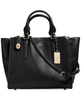 Coach Crosby Carryall in Leather Black