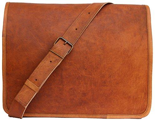 Scotchleather Leather Full Flap Messenger Handmade Bag Laptop Bag Messenger Bag Satchel Bag