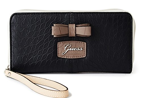 GUESS Women's Hesperia Zip-Around Wallet Clutch Bag, Black
