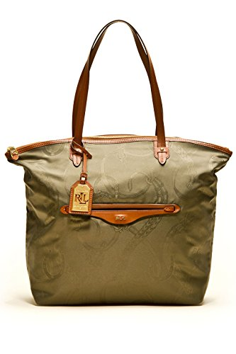 Ralph Lauren Cavalry North/south Zip Tote in Lauren Green
