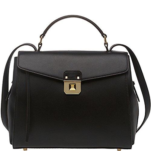 2014 AW Authentic MCM CHRISTINA Medium Size Satchel Bag Black Color MWE4AJD05BK