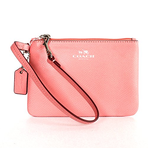 Coach 52850 Crossgrain Leather Small Wristlet Pink