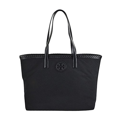 Tory Burch Marion Nylon East West Tote Black