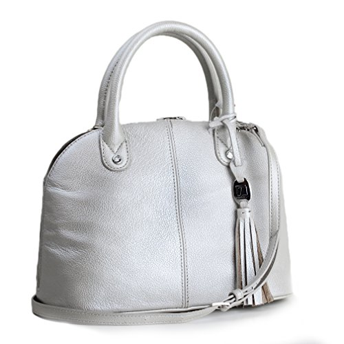 Tignanello Leather Domed Mini Convertible Satchel Cross Body – Oyster