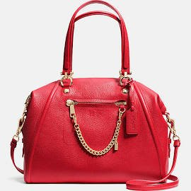 PRAIRIE SATCHEL WITH CHAIN IN PEBBLE LEATHER #34362