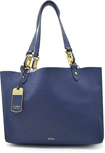 Lauren Ralph Lauren Womens Bembridge' Novelty Shopper Bag Handbag – Navy