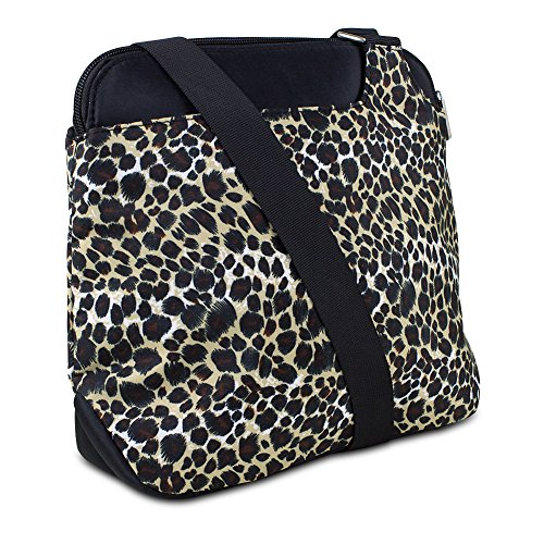 Travelon 3 Compartment Cross-Body Bag (Leopard)