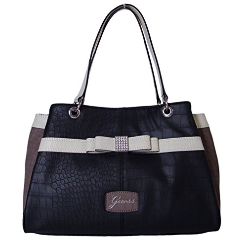 GUESS Hesperia Large Satchel Tote Bag Handbag Purse, Black Multi