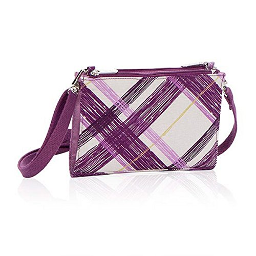 Thirty One Cross Town Wallet in Plum Plaid – No Monogram – 4711