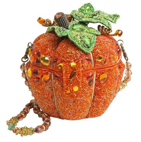 Mary Frances After Midnight Orange Pumpkin Convertible Clutch Handbag
