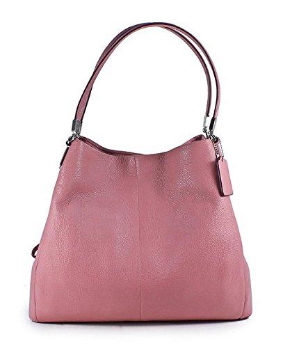 Coach Madison Phoebe Shadow Rose Leather Shoulder Bag
