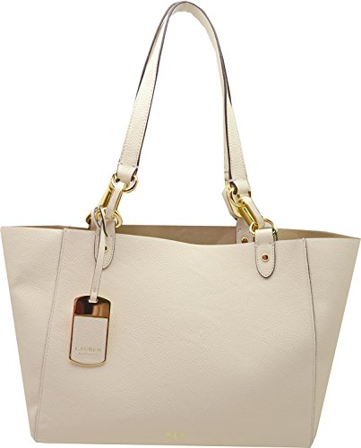 Lauren Ralph Lauren Womens Bembridge' Novelty Shopper Bag Handbag – Ivory