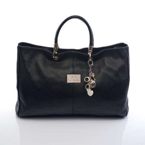 Nova Harley Luxury MELBOURNE Leather Diaper Bag (Black)