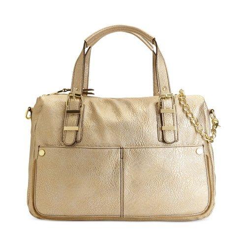 Steve Madden Classic Carryall Bwindsor Fx Leather Gold Tote Satchel Shoulder Bag