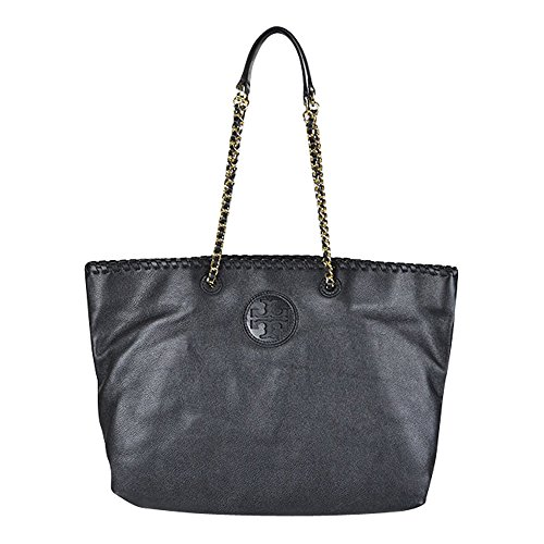 Tory Burch Marion East-West Womens Black Purse Leather Tote