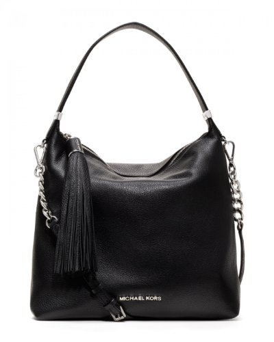 Michael Kors Medium Weston Pebbled Shoulder Bag Black