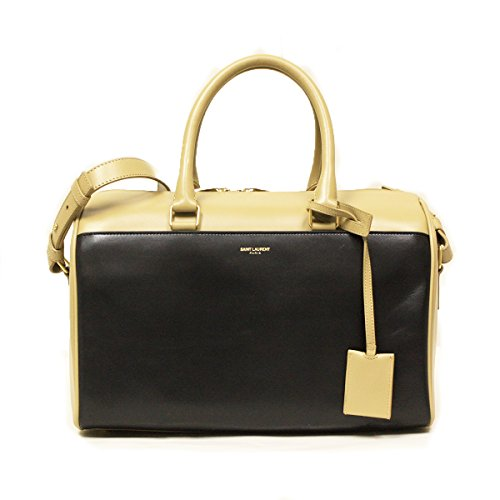 Saint Laurent 6 Hour Calfskin Leather Duffle Bag Two Tone Soft Leather Handbag