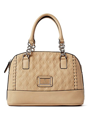 Guess Alivia Quilted Dome Tote Satche Bag Handbag Purse, Nude / Beige