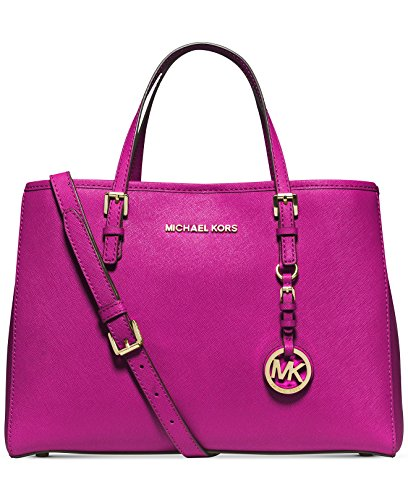 MICHAEL Michael Kors Jet Set Travel East West Tote in Deep Pink Leather