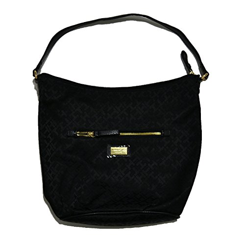 Tommy Hilfiger Purse Womens Hobo Handbag Black