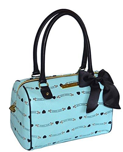 Betsey Johnson Banner Satchel Purse Shoulder Bag Handbag Mint
