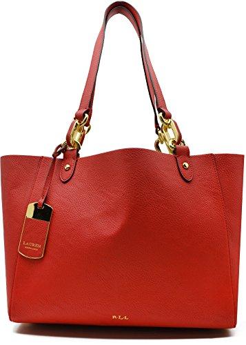 Lauren Ralph Lauren Womens Bembridge' Novelty Shopper Bag Handbag – RED
