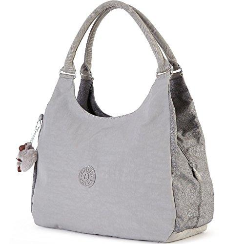 Kipling Bagsational Shoulder, Silver Glimmer Combo-$109