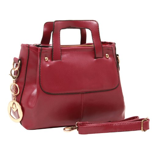 MG Collection HILDA Classic Doctors Style Top-Handle Office Tote Handbag