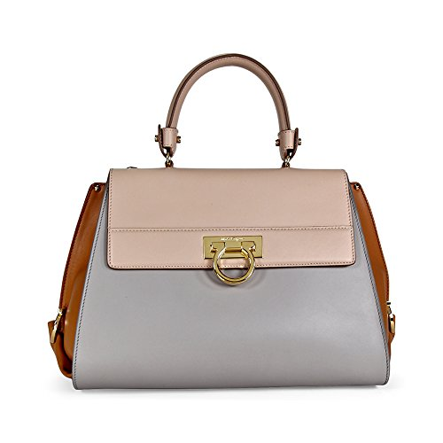 Salvatore Ferragamo Medium Sofia Leather Satchel – Light Pink