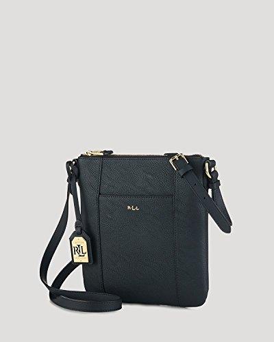 Lauren Ralph Lauren Aiden Black Leather Cross Body Purse Handbag