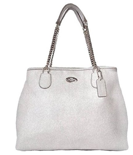 Coach Chain Caviar Grain Leather Shoulder Bag/ Satchel 34667