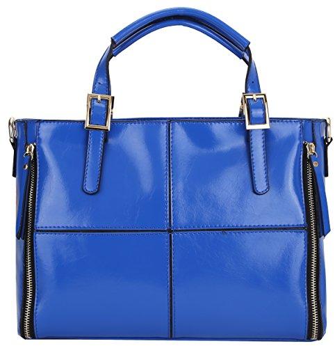 Heshe 2014 Wax Paper Vintage Classic Fashion Women's Designer Tote Cross Body Shoulder Bag Handbag