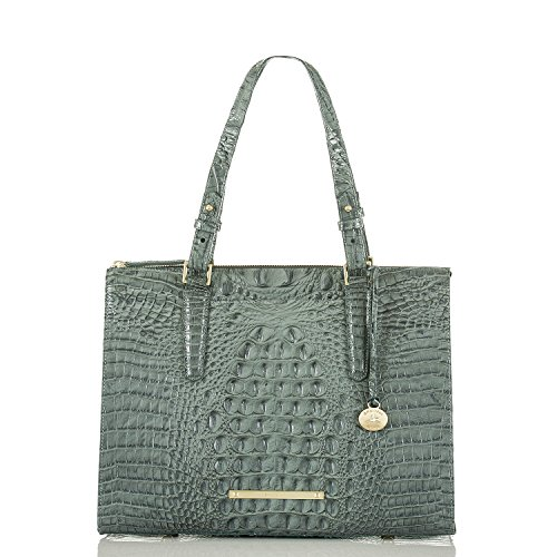NEW AUTHENTIC BRAHMIN ANYWHERE CROCO EMBOSSED LEATHER SHOULDER TOTE (Jasper Melbourne)